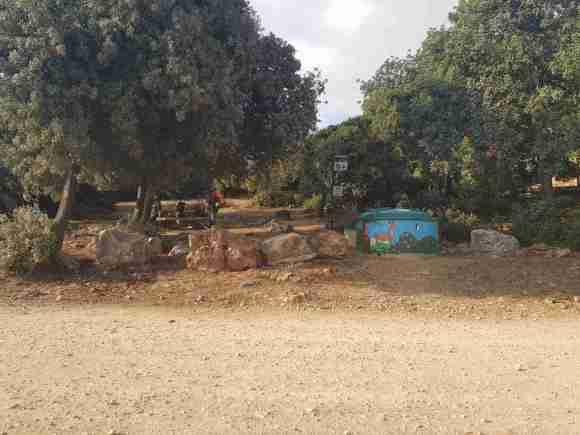 Picnic area on Mount Carmel
