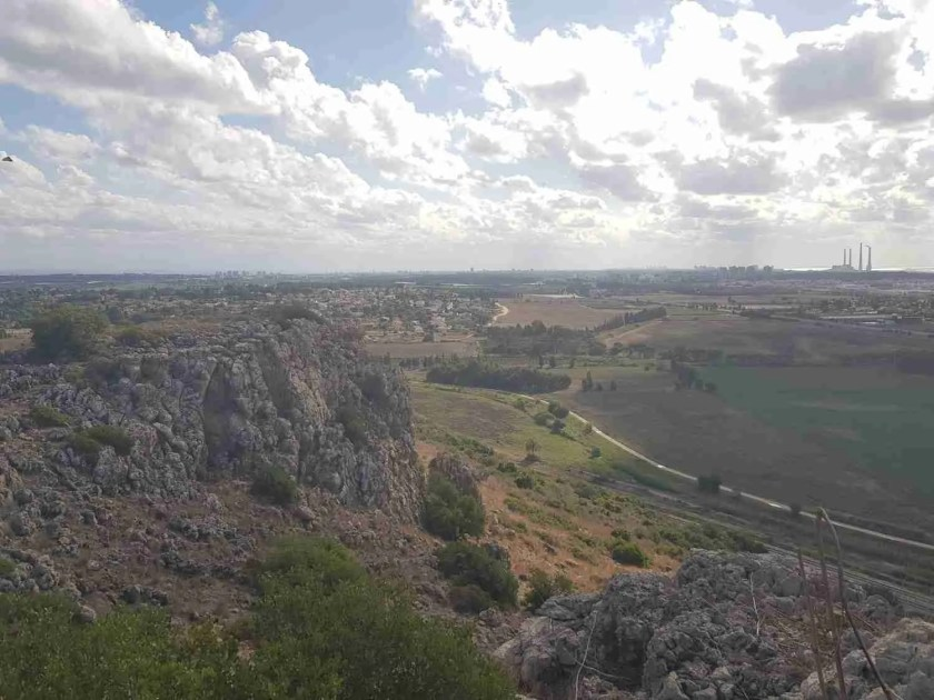 Down the slope of Mount Carmel on the Israel National Trail