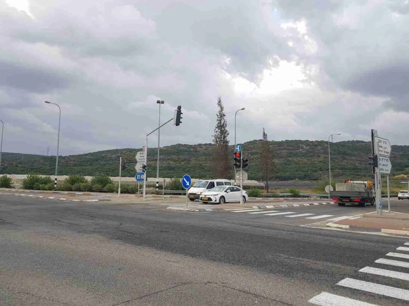Shfeya Junction. The  Israel National Trail starts from the left side