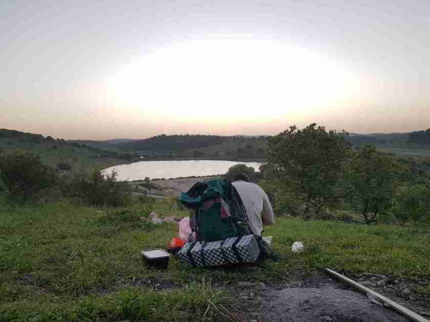 Raz Reservoir on the Ramot Menashe Regional Trail