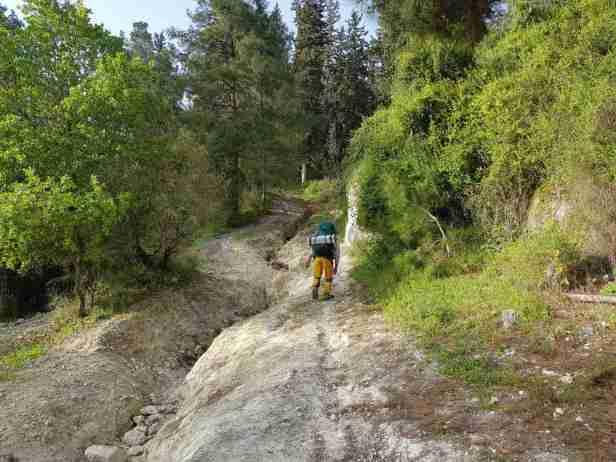 The first steep climb up on the Ramot Menashe Regional Trail