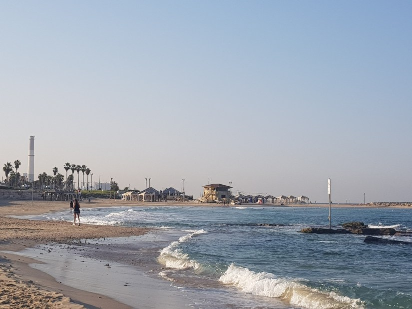 Tel Aviv Beach near Reading Station on the Israel National Trail