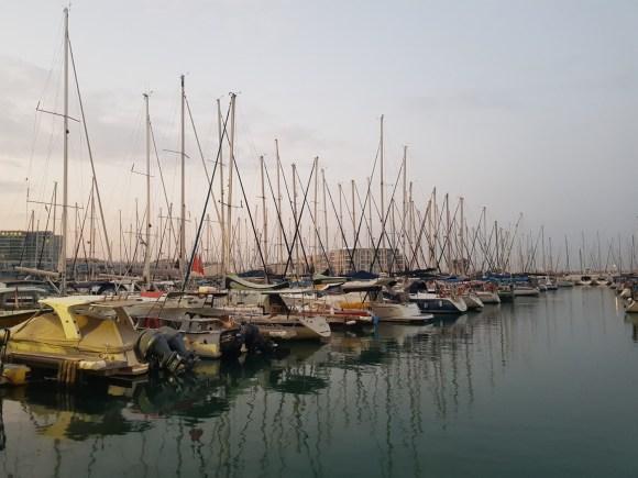 The Herzliya Marina on the Israel National Trail