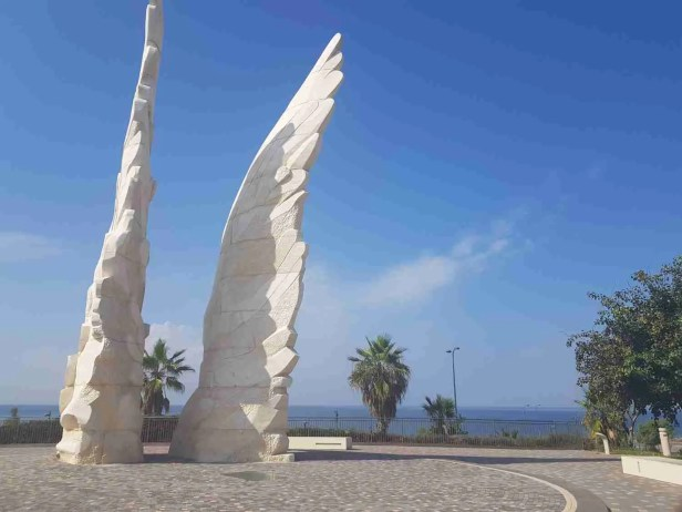 The Victory Monument in Netanya on the Israel National Trail