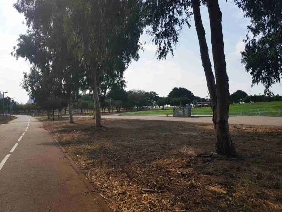 Winter Pond Park in Netanya on the Israel National Trail