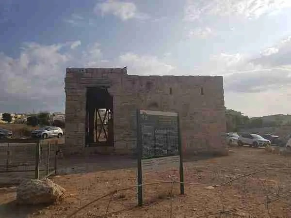 Mazor Mausoleum - one of the most preserved Roman buildings in Israel - on the Israel National Trail