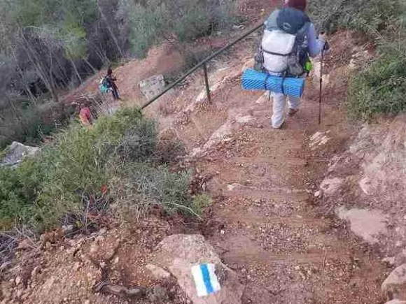 The Israel National Trail in the Forest of the Martyrs