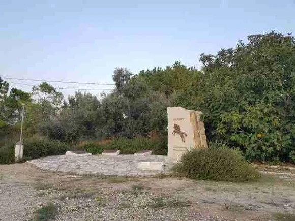 """The """"Galloping Horse"""" memorial at Latrun on the Israel National Trail"""