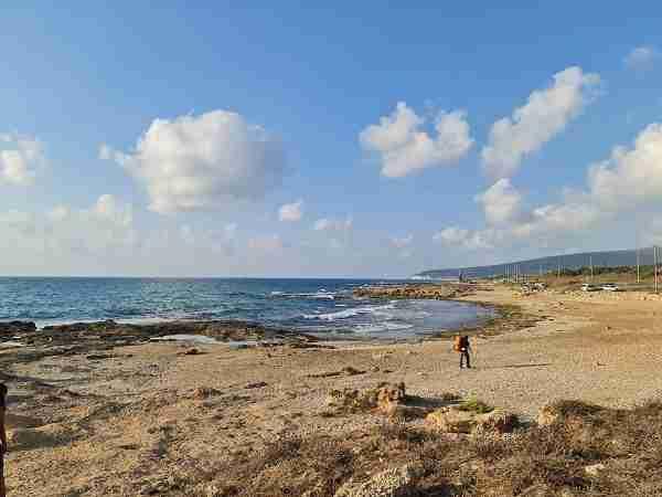 The Achziv Beach, starting point of Sea to Sea Trail