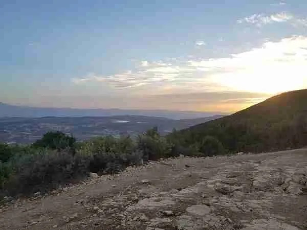 The view from Mount Meron on the Sea to Sea Trail