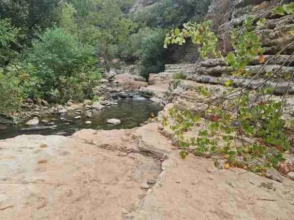 Water in Nahal Kziv on the Sea to Sea Trail