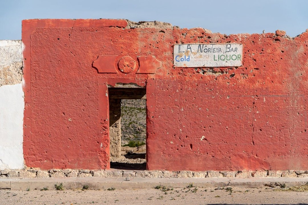 Things to do in Big Bend: Cross the Rio Grande into Mexico. This is a run-down building in the village of Boquillas.