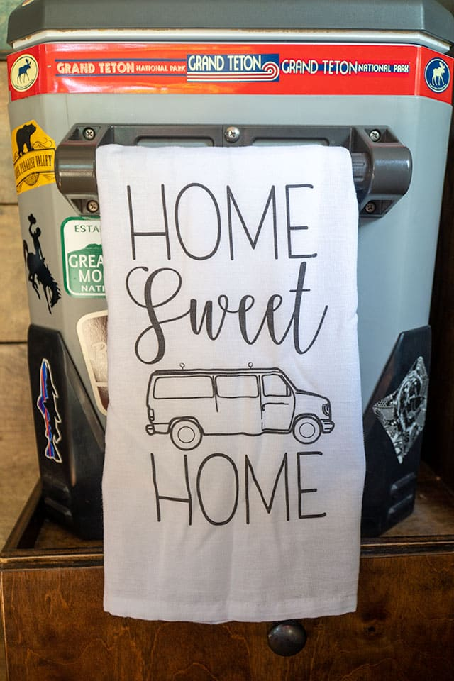 How to Make Your Van Feel Like Home: Hand Towel