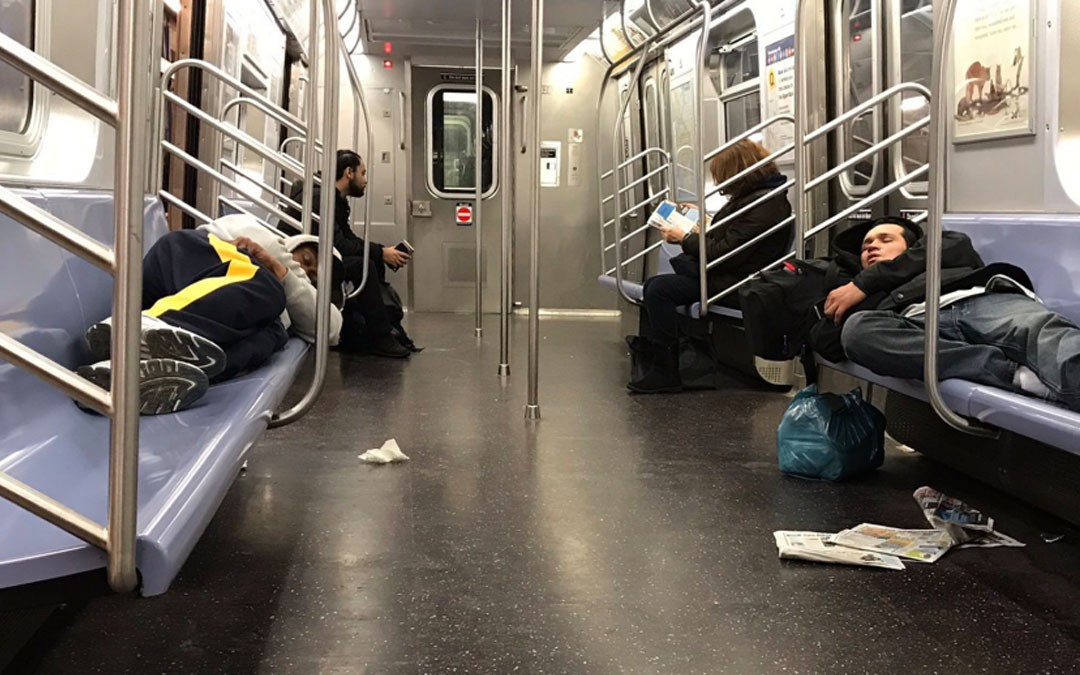 Homeless On The E Train
