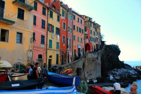 Riomaggiore Sea Front, BackpacktoBeyond