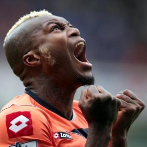 Djibril Cisse after scoring for QPR