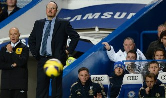 Rafa Benitez watches