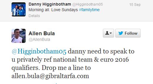 Higginbotham tweet