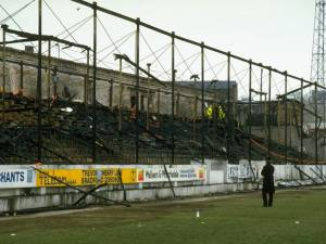 Bradford City's fire gutted stand
