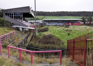 Scarborough FC's old Athletic Ground in disrepair