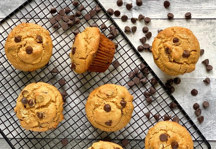 paleo cassava flour chocolate chip muffins