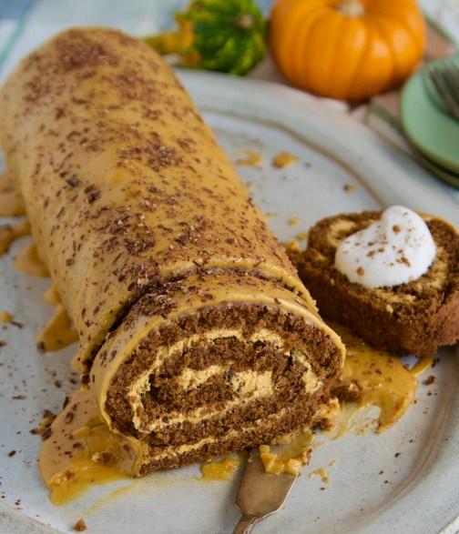 pumpkin cream swiss roll