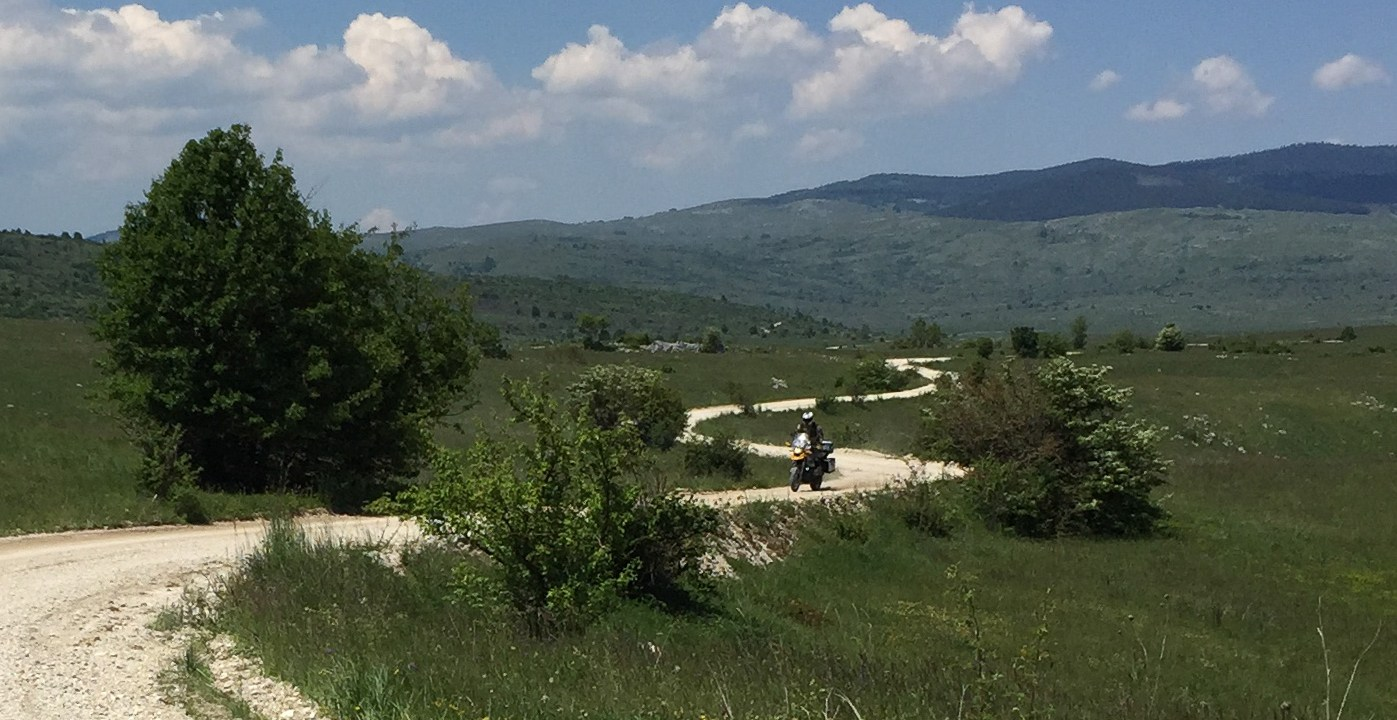 A great road to ride on a Backroad Motorcycle Adventure