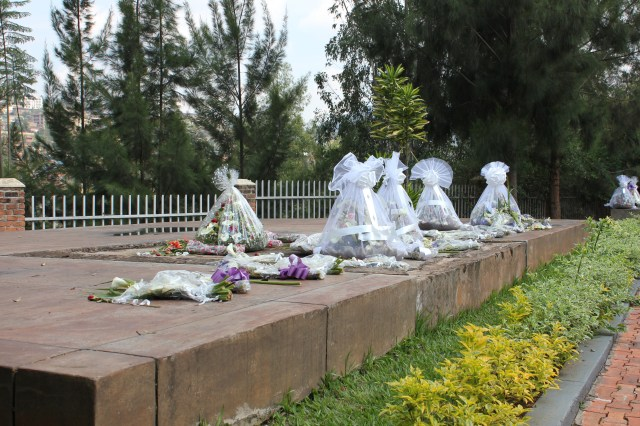 Flowers left to honor lost family members