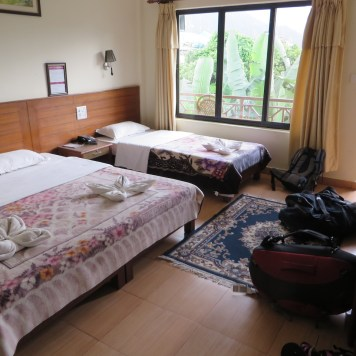 Our lovely hotel in Pokhara. I liked this place!