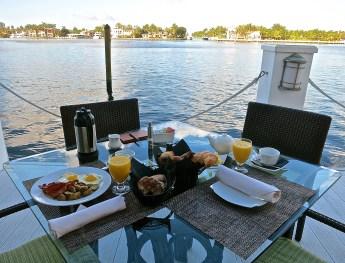 Breakfast Dockside At The Pillars