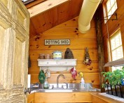 Potting Shed Interior Is Filled With Light