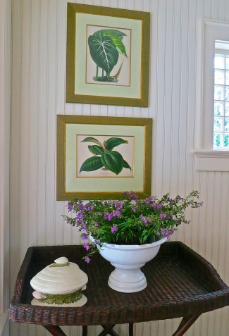 Botanical Prints Fill The Dining Room