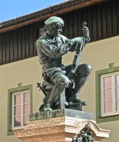 Statue Of Matthias Klotz, A Master Violin Maker