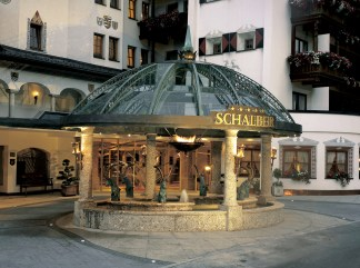 The Entrance Fountains Of The Schalber Hotel