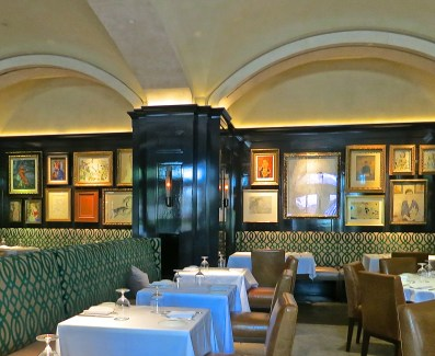Artwork Displayed In The Dining Niches At Atlas Restaurant