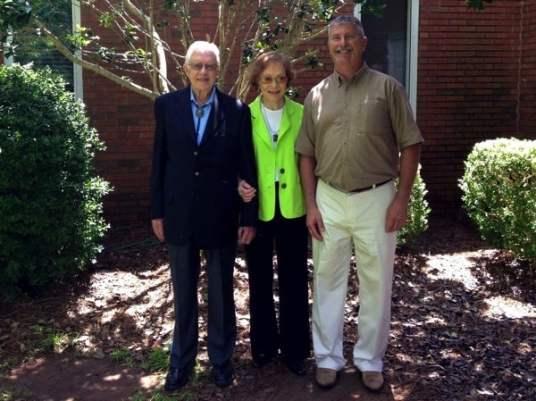 President Jimmy Carter Rosalynn Sunday School Maranatha Baptist Plains Georgia Jerry Woods