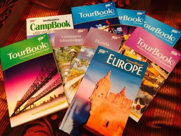 AAA Guidebooks, TourBooks, and Maps