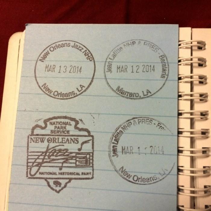 Jean Lafitte NHP Passport Stamp