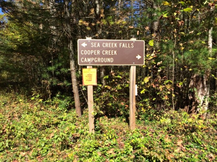 Sign to Sea Creek Falls