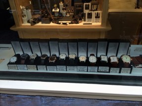 Watches for sale at the Ten Boom Jewelers Haarlem, Netherlands.