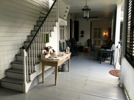 The Linden Bed and Breakfast Natchez Mississippi Porch Stairs