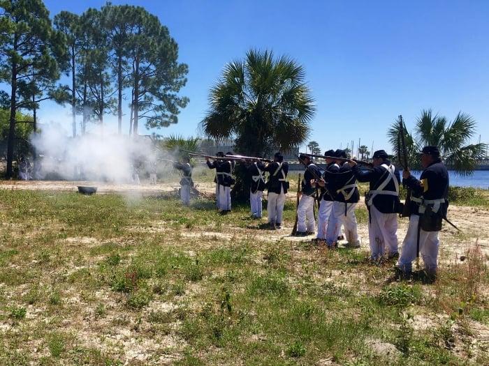 St. Andrews Bay Salt Works Raid Reenactment Florida