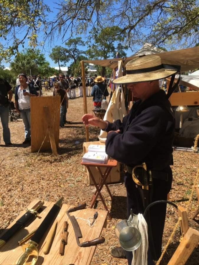 Civil War Reenactment Camp Sutler
