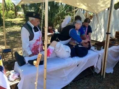 St. Andrews Bay Salt Works Raid Reenactment Florida Surgical Tent