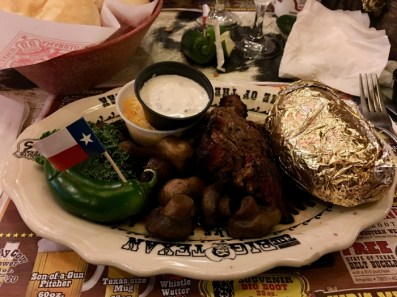 Big Texan Amarillo Texas Filet Dinner