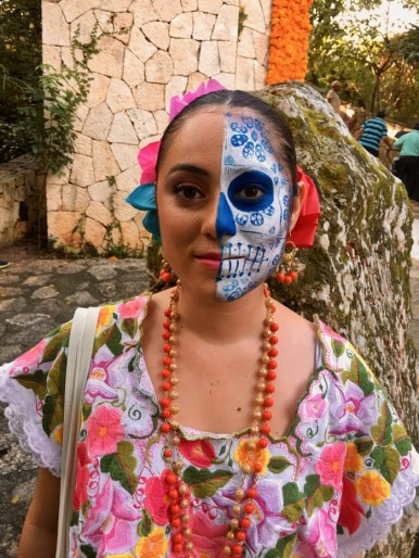 Day of the Dead Face Xcaret Mexico
