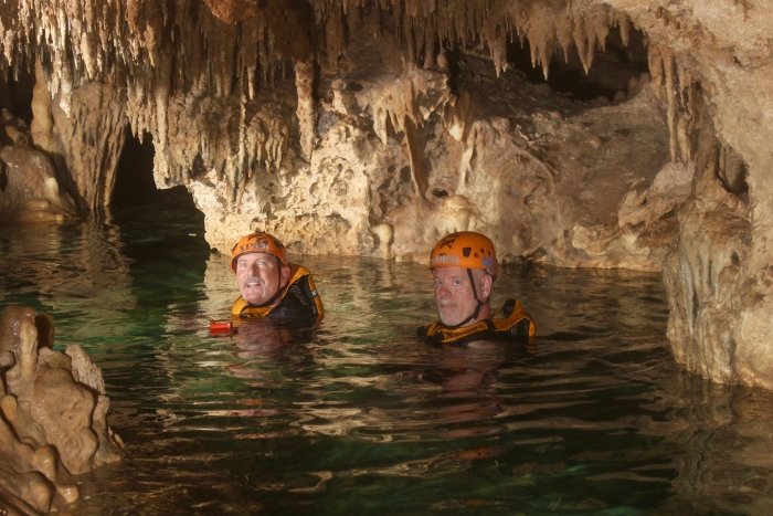 Howard Blount Jerry Woods Cave Floating Xplor Park Cancun Mexico