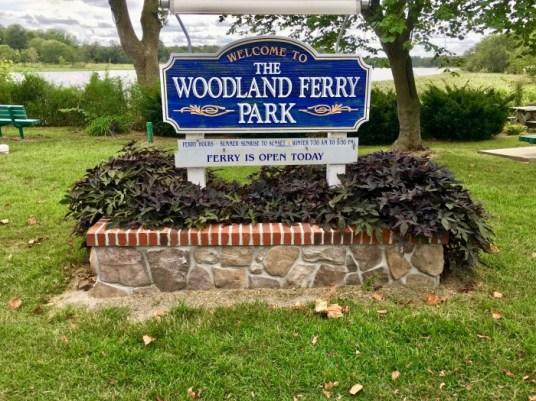 Woodland Ferry park sign