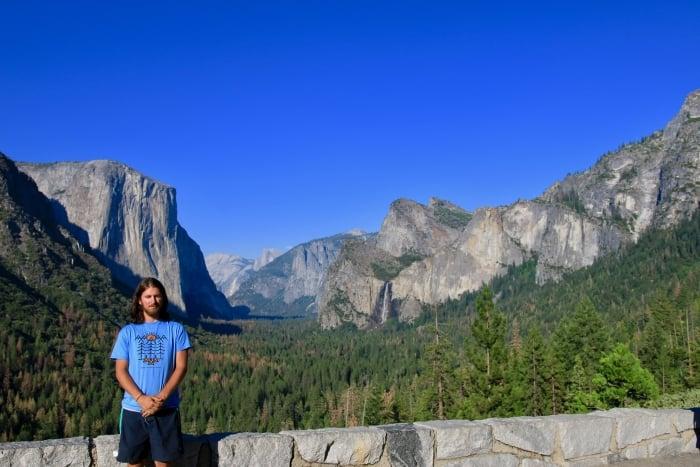 Man standing at Yosemite National Park
