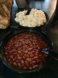 baked beans and potato salad